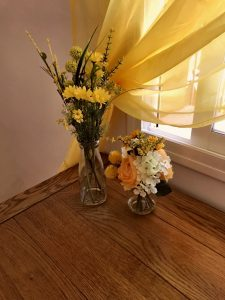 Flowers in Yellow room
